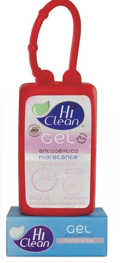 Gel Antisséptico Hidratante Extrato de Rosas HOLDER 70ml - HI CLEAN