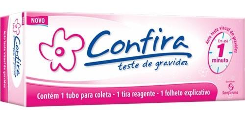 Teste de Gravidez Confira Tira + Coletor  - SANFARMA