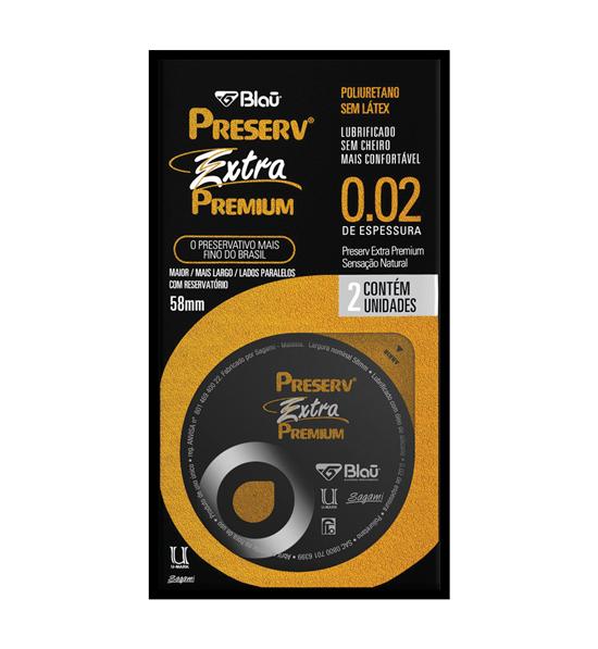 PRESERVATIVO EXTRA PREMIUM DISPLAY 6X2 - PRESERV