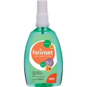Repelente Infantil Forinset  Loção Spray 100mL ADV