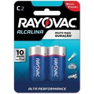 Pilha Alcalina C2  Cartela C/2 -SM-24 - RAYOVAC