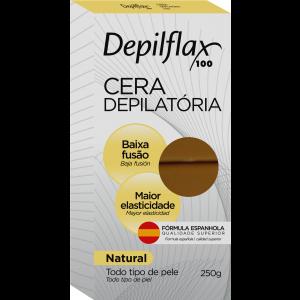 CERA DEPILATORIA QUENTE NATURAL 250G - DEPILFLAX