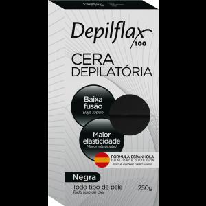 CERA DEPILATORIA QUENTE NEGRA 250G - DEPILFLAX