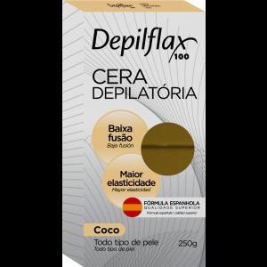 CERA DEPILATORIA QUENTE COCO 250G - DEPILFLAX