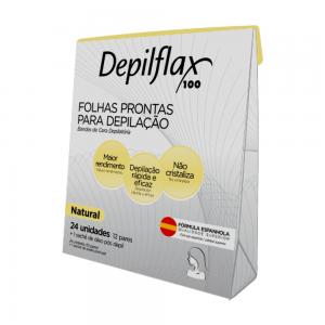 FOLHA DEPILATORIA FACIAL NATURAL C/24 - DEPILFLAX