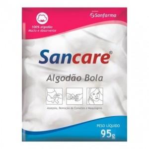 ALGODÃO BOLA BRANCO 95G SANCARE - SANFARMA