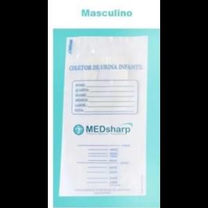 COLETOR URINA INFANTIL ESTERIL MASCULINO C/10 - MEDSHARP