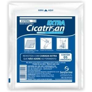 Compressa Não Aderente Estéril Extra C/5 CICATRISAN - SANFARMA