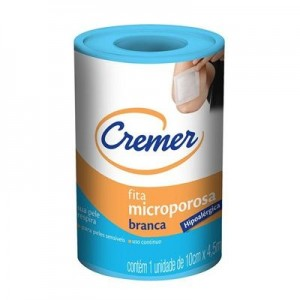 FITA MICROPOROSA BRANCA 10CMX4,5 - CREMER