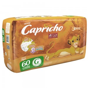 FRALDA DESC. REI LEAO HIPER G 4X60 - CAPRICHO