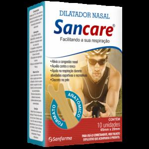 DILATADOR NASAL(65MM X 20MM) MASCULINO C/10 SANCARE-SANFARMA