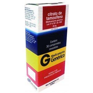 CITRATO DE TAMOXIFENO GENÉRICO 20 MG 30 CPS - BLAU