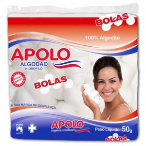 ALGODAO BOLA BRANCO 50G - APOLO