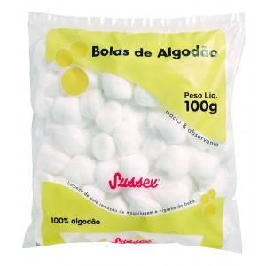 ALGODAO BOLA BRANCO 100G - SUSSEX.