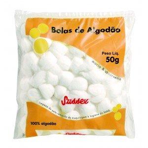 ALGODAO BOLA BRANCO 50G - SUSSEX.