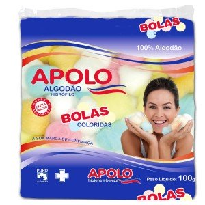 ALGODAO BOLA COLORIDO 100G - APOLO.