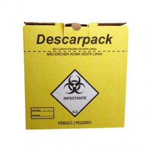COLETOR DE MATERIAL PERFUROCORTANTE 3L - DESCARPACK