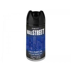 DESODORANTE AEROSOL DEMI-SEC WALL STREET 110G/170ML-FIORUCCI
