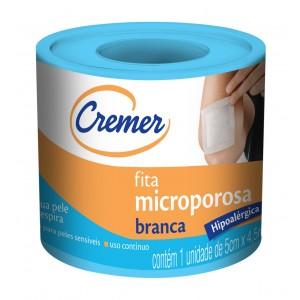 FITA MICROPOROSA BRANCA 5CMX4,5M - CREMER