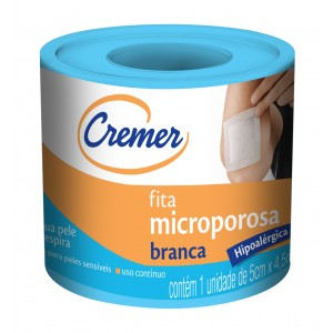 FITA MICROPOROSA BEGE 5CMX4,5M - CREMER