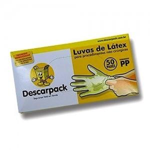 LUVA DE LATEX PARA PROCEDIMENTO PP CX C/100 - DESCARPACK.