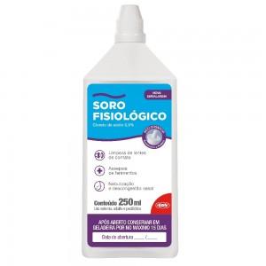Solução Fisiológica Cloreto de Sódio 0,9% 250ML C/24 unidades  ADV