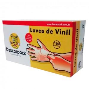 Luva de Vinil para Procedimento M Cx C/100 - DESCARPACK