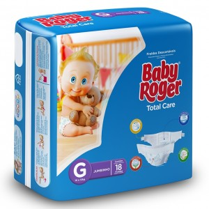 Fralda Descartável Total Care Jumbinho G 12X18 - BABY ROGER