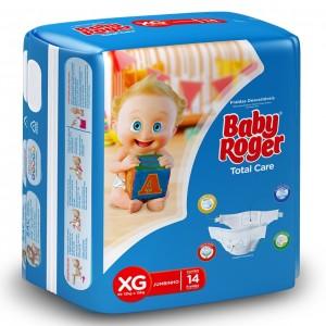 Fralda Descartável Total Care Jumbinho XG 12X14 - BABY ROGER
