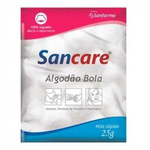 ALGODÃO BOLA BRANCO 25G SANCARE- SANFARMA