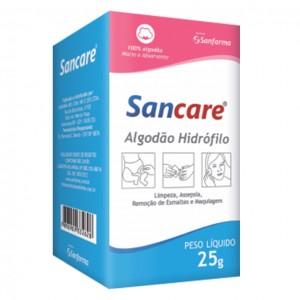 ALGODÃO CAIXA 25G SANCARE- SANFARMA