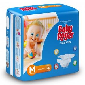 Fralda Descartável Total Care Jumbinho M 12X20 - BABY ROGER